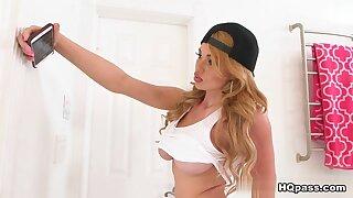 Skyla Novea upon Bathroom peeper - TeensLoveHugeCocks